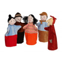 Noe Hand Puppets Set Hansel and Gretel, 5 pieces