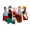 Noe Hand Puppets Set The rooster and the hen, 7 pieces