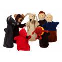Noe Hand Puppets Set Kolobok, 7 pieces