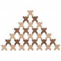 Goki Wooden X-Shaped Men Stacking Game, 48 pieces