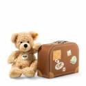 Steiff Teddy Bear Fynn in suitcase, 28cm