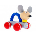 Greenkid Wooden Pushing Toy with Rope Mouse Pippa