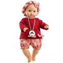 Paola Reina Crying Doll Sonia, 36cm red sweater and butterflies