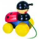 DETOA Pull Along Toy Lady Bird
