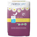 Natracare Organic Cotton Maxi Pads Super, 12 Pieces