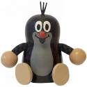 Detoa Wooden Doll Sitting Mole
