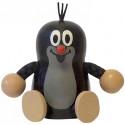 Detoa Wooden Doll Sitting Mole