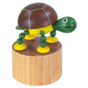 DETOA Wooden Push Up Toy Tortoise