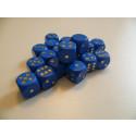 DETOA Wooden dice 16mm blue, 1pc
