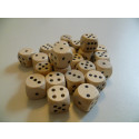 DETOA Wooden dice 16mm natural, 1pc