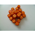 DETOA Wooden dice 16mm orange, 1pc
