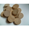DETOA Wooden Tokens for Checkers, 1pc natural