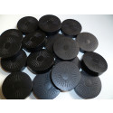 DETOA Wooden Tokens for Checkers, 1pc black