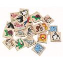 DETOA Wooden Children Memo ZOO, 24 pieces