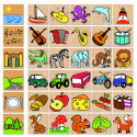 DETOA Wooden Children What Does Belong Game, 36 pieces