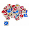 DETOA Wooden Children Memo Traffic Signes, 36 pieces