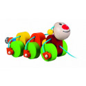 Detoa Wooden Pull Along Toy Caterpillar Julia