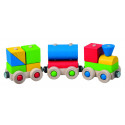 DETOA Wooden Train Take Apart Toy