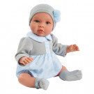 Asivil Baby Doll Soft Body Leo, 46cm in grey