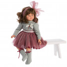 Asivil Pepa falda tull granate Soft Doll, 57cm