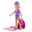 Paola Reina Las Amigas Doll Claudia Nadadora, 32cm