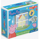 GEOMAG Magicube Magnetic cubes Peppa Pig House & Garden, 4 cubes