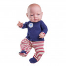 Paola Reina Bebita Baby Doll Girl, 45cm red stripes