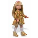 Vestida de Azul Carlota Doll, 28cm golden boots