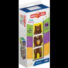 GEOMAG Magicube Magnetic cubes Animals, 3 cubes