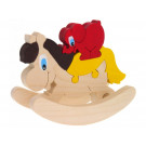 Giggly Wooden Puzzle Rocking Horse