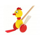 Greenkid Wooden Pushing Toy Chicken Greg