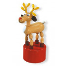 DETOA Wooden Push Up Toy Rudolf the Reindeer