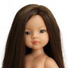 Paola Reina Las Amigas Doll Mali long hair, 32cm Naked