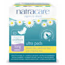 Natracare Organic Cotton Ultra Pads Long, 10 Pieces