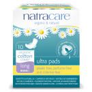 Natracare Organic Cotton Ultra Pads Long, 10 Pieces