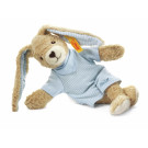 Steiff Rabbit Hoppel organic cotton, 20cm blue