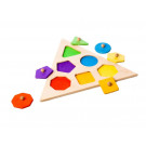 Playful Wood Wooden Peg Puzzle Geometric Shapes