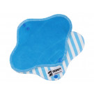 Anavy Menstrual Day Pads PUL cotton velour turquoise / stripes blue