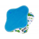 Anavy Menstrual Day Pads PUL cotton velour turquoise / frogs