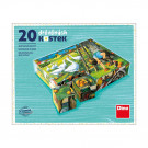 Dino TOPA Wooden Picture Blocks Farm animals, 20 cubes