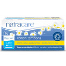 Natracare Organic Cotton Tampons with Applicator Super, 16 Pieces