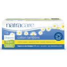 Natracare Organic Cotton Tampons with Applicator Regular, 16 Pieces
