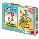 Dino Puzzle Dog and Cat, 2x48