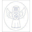 Beruska Kids' Embroidery Set Pre-printed 20x15 Angel