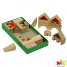 MIK Wooden Blocks Town, 28 pieces
