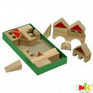 MIK Wooden Blocks Town, 28 pieces