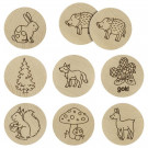 Goki Nature Wooden Children Memo Forrest, 16 pieces