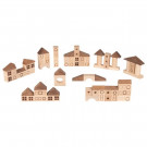 Goki Wooden Building Bricks Nature Town, 70 pieces