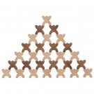 Goki Wooden X-Shaped Men Stacking Game, 48 pieces