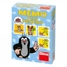 Dino Children Memory Mini Little Mole and friends blue, 24 pieces